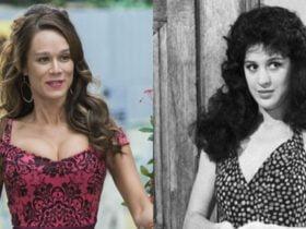 Enquanto a personagem Tancinha, de Sassaricando terminou a história com Beto, a interpretada por Mariana Ximenes acabou com Apolo. (Foto: Reprodução)