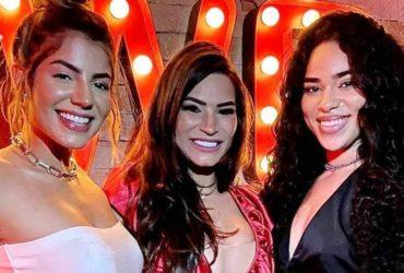 Hariany Almeida, Raissa Barbosa e Elana Valenaria durante festa em uma balada (Foto: Reprodução/Instagram)